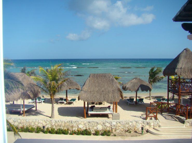 FKK-Urlaub Hidden Beach Resort Cancun Mexiko - Strand