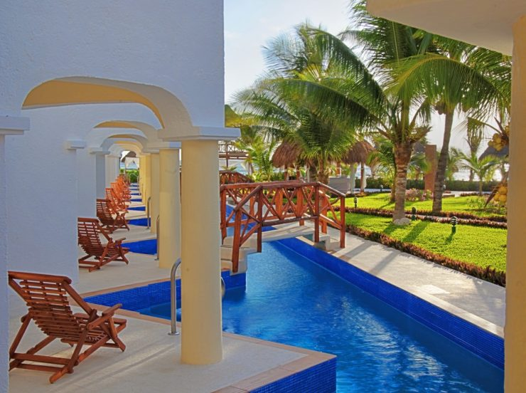 FKK-Urlaub Hidden Beach Resort Cancun Mexiko - Swim-up